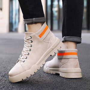 OLOME Hot Sale Trend Men's Casual Boot Botas De Hombre Adult Non-slip Wear Resistant Men's Fashion Work Boots Outdoor Walk Boot