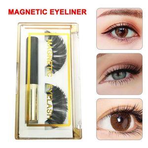 Magnetic Eyeliner With 3D Magnetic Eyelashes,Black Waterproof Liquid Eyeliner Lash Liner For False Lashes