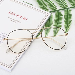 20020 new anti Blu ray fashion simple titanium anti Blu ray glasses art students goggles can be equipped with myopia astigmatism