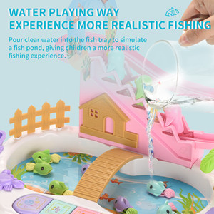 Giochi d'acqua di pesca gioia giocattoli in anticipo di formazione L'illuminazione cognitiva della modalità di formazione iniziale permette ai bambini di imparare in giochi