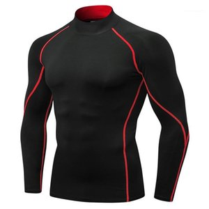 Sleeve Quick Drying Running Mens Tops Basketball Fitness Stretch Sports Clothing Mens Sports Leggings Tshirts Long