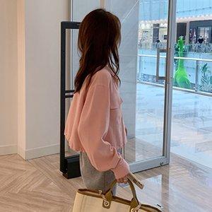 ojEPL AHY clip de la manga del estilo coreano de las mujeres cortos de los nuevos 2020 otoño YZKrw delgada del todo-fósforo largo de la manga de la chaqueta Internet Red Jacket