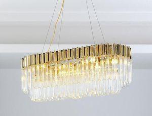 Restaurant Crystal Chandelier Designer New Style Poster -Modern d'or Salle lampe Ambiances mode Led Art Bar Lampe Myy