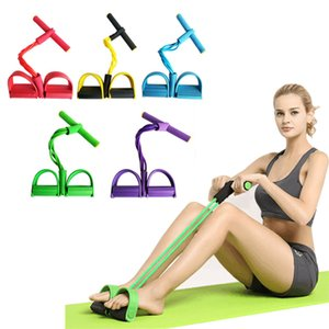 Resistance Bands Latex Elastic Pedal Exerciser Sit-up Training Pull Rope Waist and Abdomen Expander Bands Yoga Fitness Equipment
