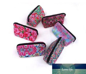 Mix Style Neoprene Makeup Bag Lilly Floral Travel Case Rose baseball Neoprene Accessories Cosmetic Bag for mother day