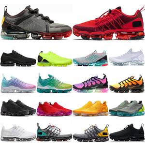 2020 air max vapormax run utility Chaussures de course pour hommes triple blanc, noir, réfléchissant, moyen, olive, bordeaux, concepteurs, mens, formateurs, baskets