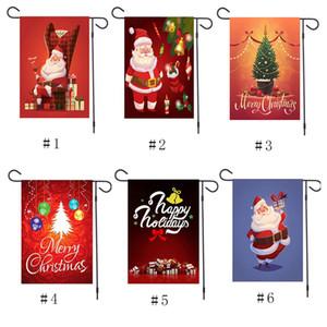 Weihnachten verziert Banner Flag Doudle Seite bedruckte Banner Weihnachtsmann Schneemann Hanging Flagge im Freien NEU Frohe Weihnachten Dekor für Zuhause