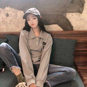 HAYBLST Marca 2020 Tamaño sudaderas ropa de mujer otoño Mujeres camiseta de Kpop Top suelta más la manga larga floja ocasional de la ropa fina