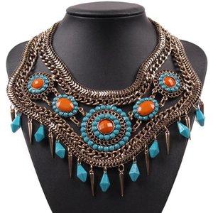 2020 Collar Moda Vintage Chunky Choker metal Cadeia pingente antigo Colar apelativo por Mulheres New Brand Design Jóias
