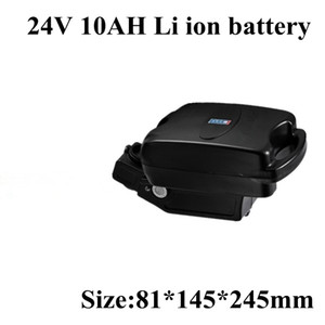 24v Electric Bike Battery 24V 10AH Li-ion with Frog Case,BMS and US EU Charger Free Shipping 10ah Pack Ebike
