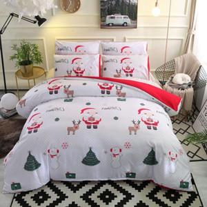Cute 49 Christmas Bed Bedding Linens Comforter Set Duvet Cover Gift for Kids Queen King Sizes Fn2n