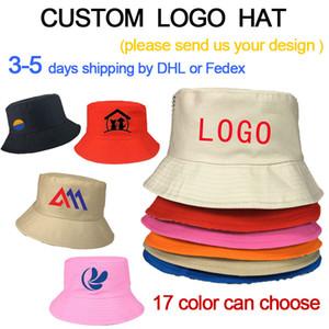 DIY собственного логотипа ведро шляпу ВС защиты велосипедной открытый колпачка Bucke для мужчин и женщин ситца HAT 3-5days DHL быстрой доставки