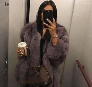 Womens Outerwear Luxury Womens Designer Coats Fashion Faux Fur Long Sleeve Thick Warm Coats Winter Plus Size