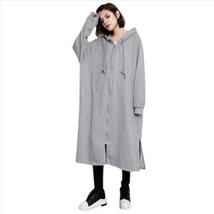 Oversized Sweatshirt Dress For Women Solid Korean Streetwear Long Sleeve Hoodies Plus Large Drawstring Pullovers Top Sweats