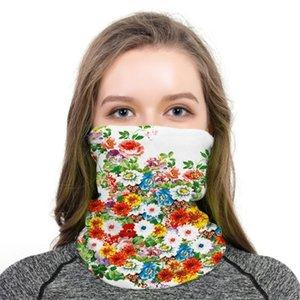 Impression numérique Fleur 2020 Magie Nouvelle Echarpe Sports de plein air Cornice Cap Masque anti-insectes