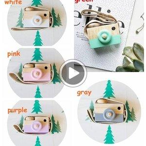 5colors Çocuk Ahşap Kamera Noel Çocuklar serin seyahat Mini oyuncak bebek sevimli Güvenli Doğal Doğum Hediye dekorasyon Çocuk Odası