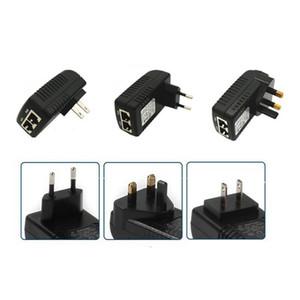 DC 48V 0.5A Wall Plug POE Injector Ethernet Adapter IP Phone   Camera Power Supply EU or US plug new