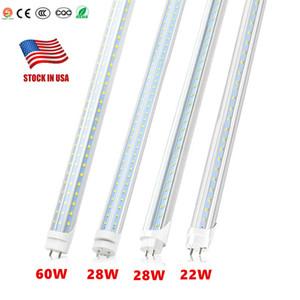 LED Tube Lumières 4 pi 4 Pieds 18W 22W 28W 80W LED Tubes Fixture 4ft couvercle transparent G13 120V Ampoules d'éclairage Commerce de gros