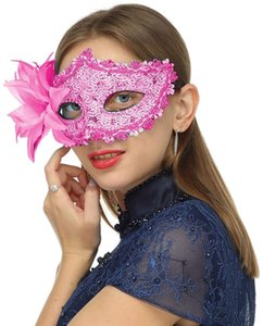 Masquerade Mask for Women Shiny Glitter Party mask Venetian mask Lace Eye Masks for Carnival Prom Ball Fancy Dress Party Supplies Red black