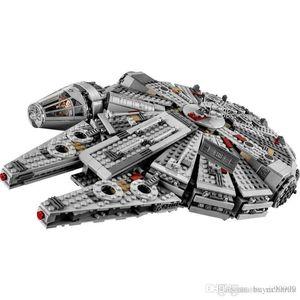 Estrela do Milênio 79211 Falcon Figuras Bricks Guerras Building Blocks inofensivos Enlighten caber suportados legoinglys Brinquedos