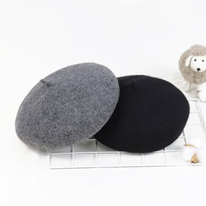 All-match Casual Beret Breathable Woolen Painter Hat Knitted Retro Pumpkin Hat Ladies Winter Sherlock Holmes