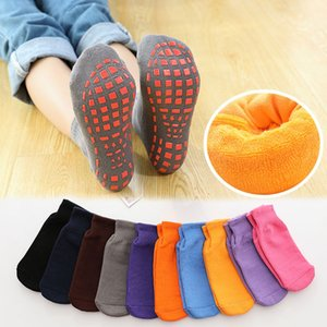 5 pairs pack Home vacation floor socks winter thick velvet towel socks indoor rope skipping parent-child trampoline