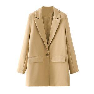 BLSQR 2020 Blazer otoño + cortos Dos Peice fijaron a las mujeres solo botón chaqueta del juego pantalones de cintura alta