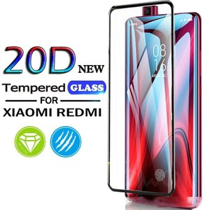 20D Полное покрытие закаленное стекло для Xiaomi Mi 10Lite 9Т Pro 9Lite A3 Screen Protector для редми Примечание 9 9S 9Pro Макс 8T 8 8Pro 8А Glass Film