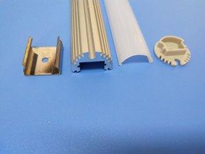 cgjxs Aluminium Led Profile Gehäuse für LED-Streife Aluminium LED Profil mit runder Abdeckung