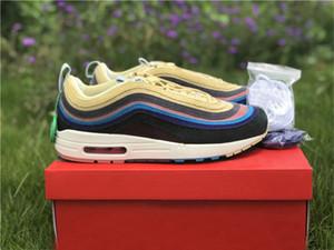 Hava Otantik Sean Wotherspoon 1/97 VF GB Man Ayakkabı Kadınlar 2018 Yayın Limon Kadife Gökkuşağı Zapatos Sneakers ile Orijinal Kutusu Running