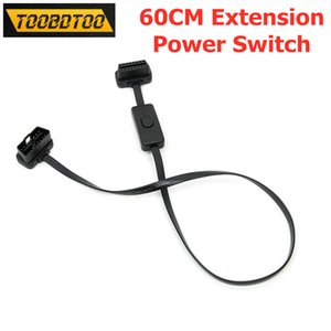 60CM OBD2 Extension Cables With Switch Flat Thin As Noodle OBD2 Car Diagnoctic Cable Connector On Off OBD 16Pin Male to Female