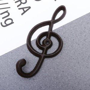 Shape de fer Shape Music Hook Style Note Centre de chapeau de manteau européen et crochets muraux NJWDM