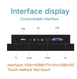 8 بوصة LCD تعمل باللمس سيارة PC مراقب ومراقبة الصناعي