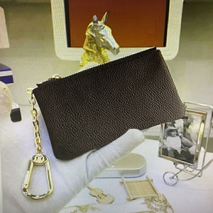 venta caliente M62650 caso de calidad superior de los hombres clave a corto billetera manera clásica real de cuero para el monedero de la moneda de las mujeres Llavero con caja de la bolsa para polvo