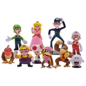 10pcs batch Super Mario Bros King Kong Action Figure Toy PVC Action Figure Toy Model Doll