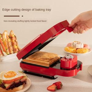 220V Breakfast Sandwich Machine Multi-Función de las luces máquina de pan galleta douyin red roja tostadas Hornear