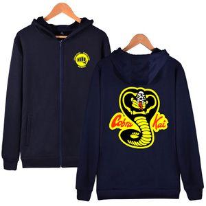 2020 Hot Sale Fashion Karate Kid Zipper Hoodie Men Movie Daniel Laruso Cobra Kai Hoodies Sweatshirt Plus Size XS-4XL Jacket Coat