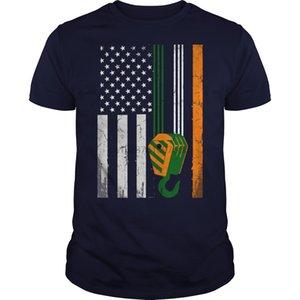 ST 패트릭 데이 아일랜드 미국 t- 셔츠 셔츠 TSHIRT 까마귀 핫 프린트 T 셔츠 티 정상 t- 셔츠 남성