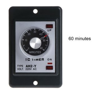 AC 220V AH2-Y Power On Delay Timer 1 3 5 10 30 60 Seconds 3 6 10 30 60 Minutes 50JC