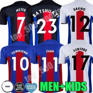 Uomini + bambini 20 21 Crystal Soccer Jerseys 2020 2021 Zaha Milivojevic Townsend Sakho Benteke Batshuayi Camicie da calcio Palazzo Uniforme Tailandia