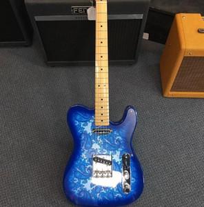 맞춤 제작 도로 착용 브래드 페이즐리 서명 블루 스파클 TL 일렉트릭 기타 크롬 하드웨어 중국 TL 기타 무료 배송
