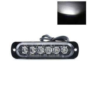 6 Allarme LED Car emergenza del camion della lampada del segnale ultra-sottile Grille Lightbar lampeggiante Dustprooof Vehicle Strobe Spia