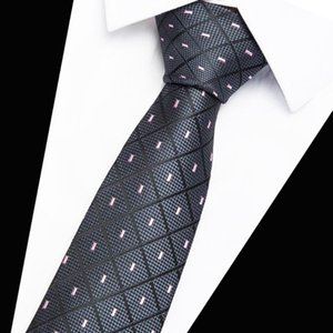 Luxury 7CM Men's Print Pattern Ties for Men's Slim Neckties Polyester Jacquard Skinny Neck Tie Wedding Narrow Ties