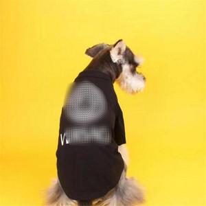 Los últimos de verano camisas impresas para mascotas de diseño INS Moda Soft Touch Mascota camisetas 3 colores de la personalidad del encanto del dogo peluche Apparel