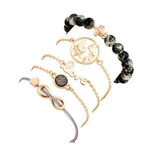Multilayer Bracelet Heart World Map Bracelet Love Tortoise beads Bracelets Wrap Bracelets Cuff hot sale drop shipps1920