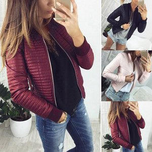 Women Spring Autumn Coat Short Section Outerwear Cotton Padded Warm Jacket Outwear Casual Pink Black Thin Female Clothes 0921