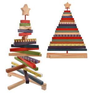 Dozzlor Çizgili Tasarım Noel Dekoratif Ahşap El Sanatları Noel ağacı Ağacı Hediye Dekorasyon Noel Hediye Toy2020 Malzemeleri