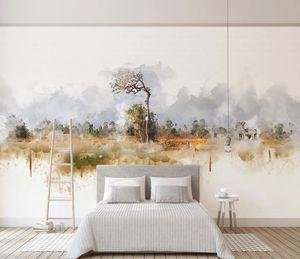 3d wallpaper murals custom living room bedroom home decor Modern nordic minimalist abstract big tree elk landscape murals