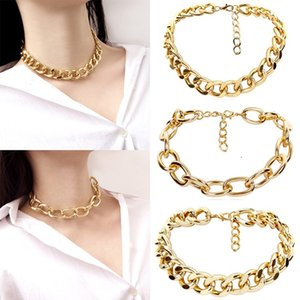 HOT Men's and women's exaggerated thick Necklace retro chain single layer versatile Necklace hip hop Metal Necklace T500223