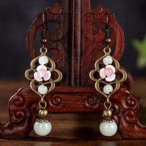 vintage Original Chinese style ethnic jewelry wholesale antique exquisite small earrings